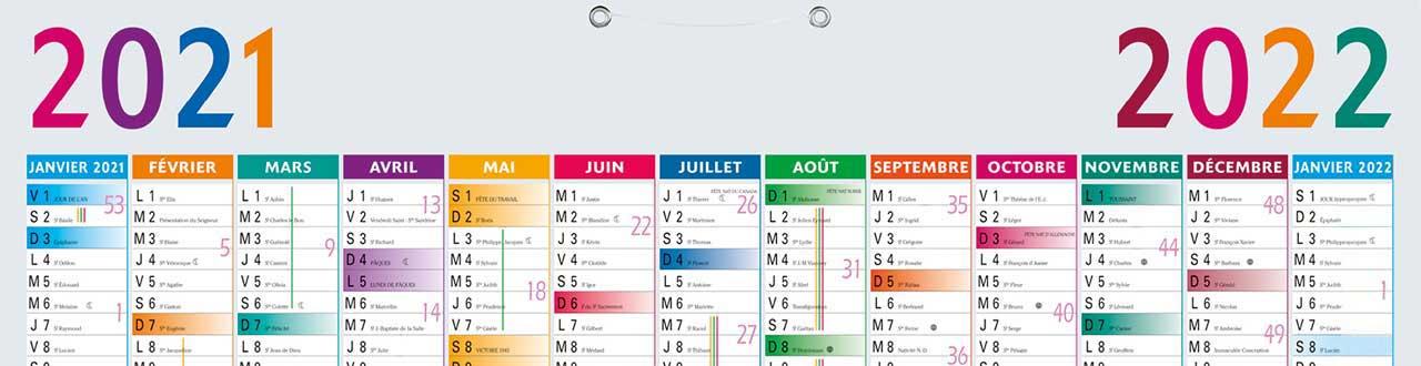 Fabrication de calendriers publicitaires personnalisés, à Paris