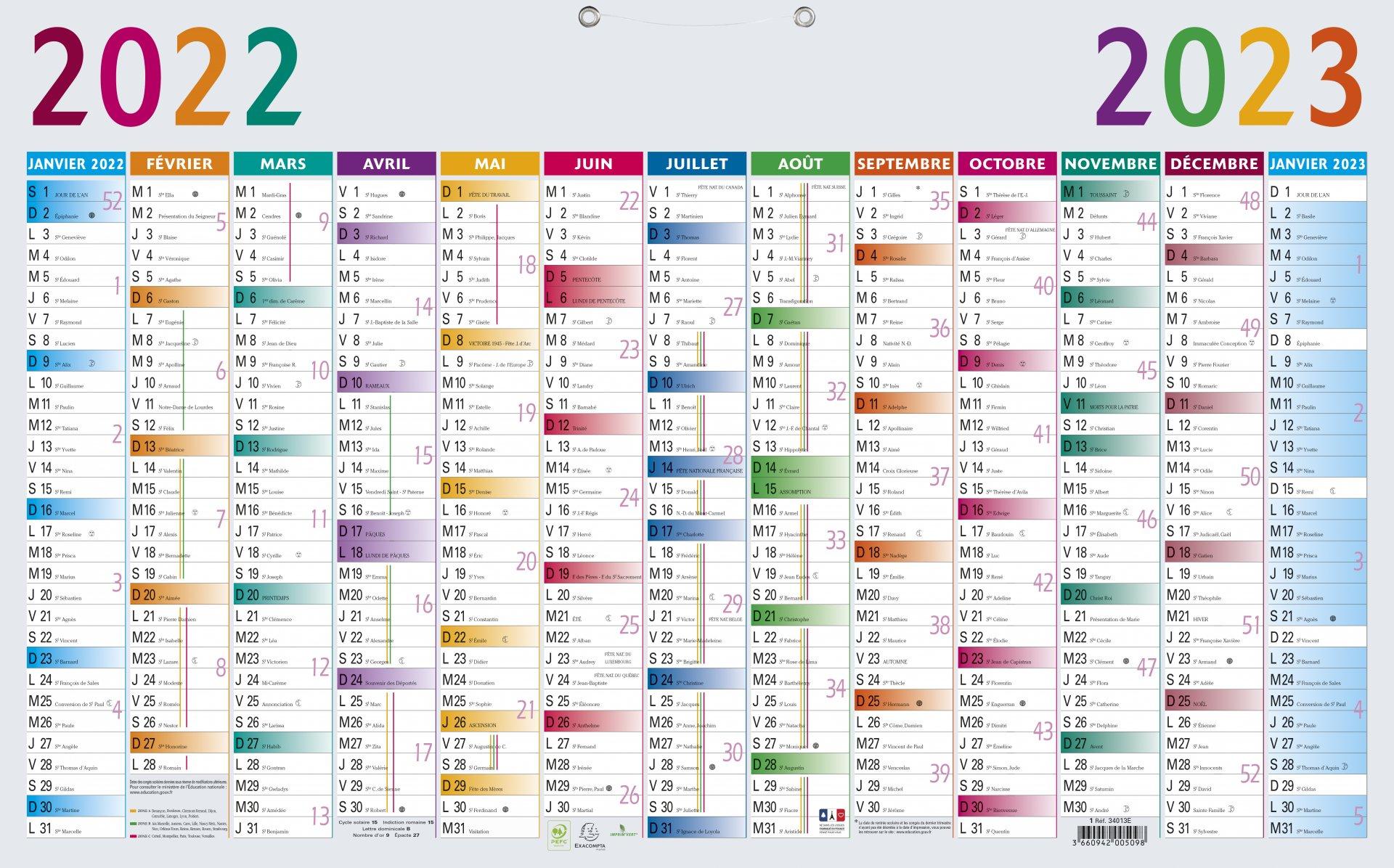 Calendrier 2022 Personnalisé Fabrication de calendriers publicitaires personnalisés, à Paris